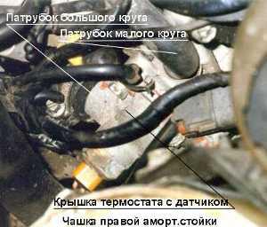 Nissan Primera P11 Термостат Замена