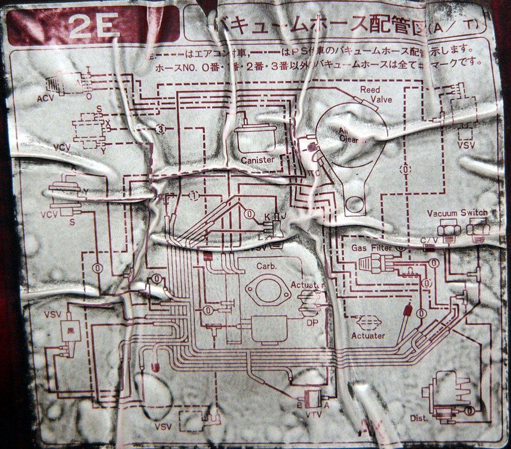 таета карина 2 1988 схема вакумных трубок